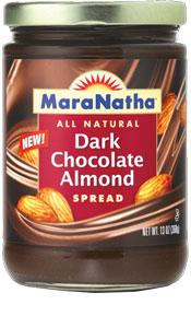 maranatha_dark chocolate almond spread