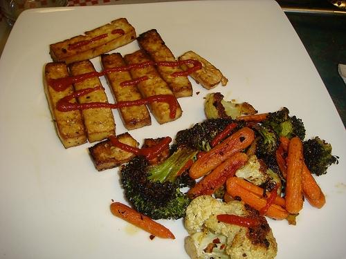 roasted veggies_baked tofu