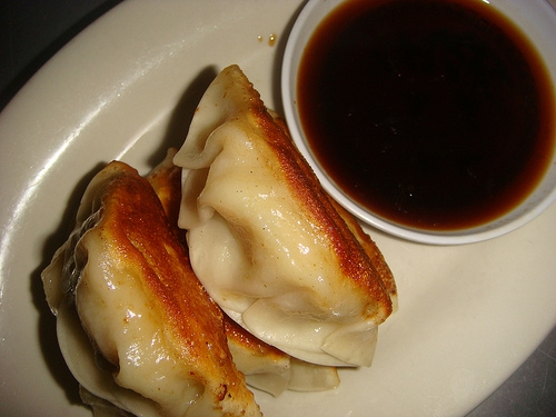 lemony shrimp potstickers