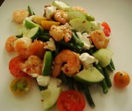shrimp and goat cheese salad 2