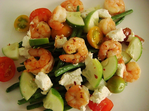 shrimp and goat cheese salad