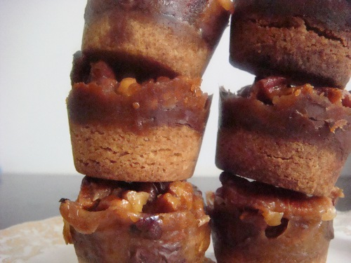 Caramel Pecan Shortbread Cups - Confessions of a Chocoholic