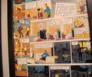 I also liked the whimsical touch of having Belgian comics lining the walls