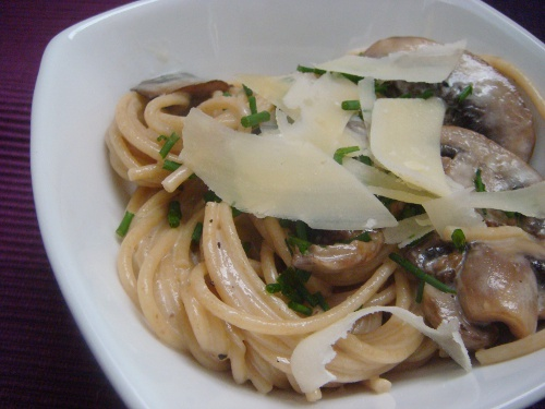 Truffle Butter Pasta Fair With Truffle Butter Pasta Sauce with Mushrooms and Cream Images
