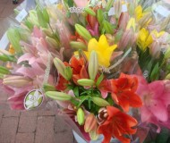 you can also buy flowers at the farmers market