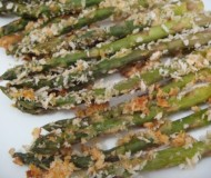 spicy, crispy, parmesan and panko-covered asparagus sticks