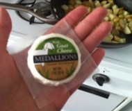 I love these little goat cheese medallions from Trader Joe's