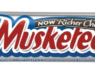The new 3 MUSKETEERS bar still offers 45 percent less fat when compared to other leading chocolate brands.