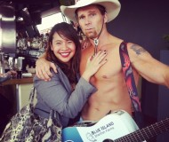 and when it was my turn to get my solo picture with him, he forced me to touch his pecs