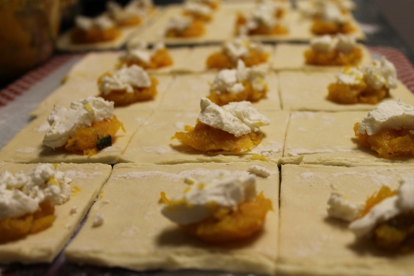 recipe: butternut squash goats cheese puff pastry [5]