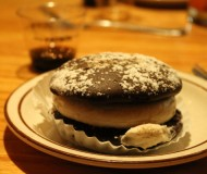 fifth course: Patron Cafe XO whoopie pies, served with Patron Cafe