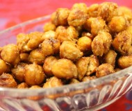 brown sugar and maple roasted chickpeas
