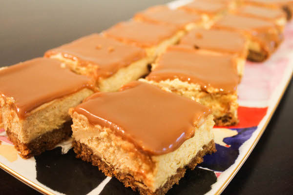 Dulce De Leche Cheesecake Bars - Confessions of a Chocoholic