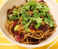 spicy soba with parsley