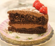 chocolate cake with orange liqueur