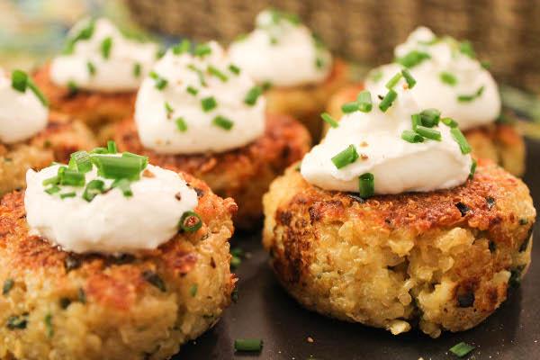 mini quinoa patties ingredients 1 1 4 cups cooked quinoa