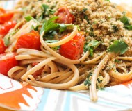 linguini with breadcrumb gremolata