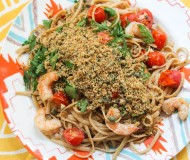shrimp linguini with breadcrumbs