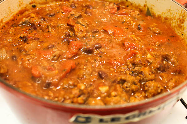 beef chili with sausage