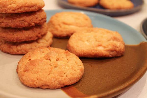 white chocolate corn cookies