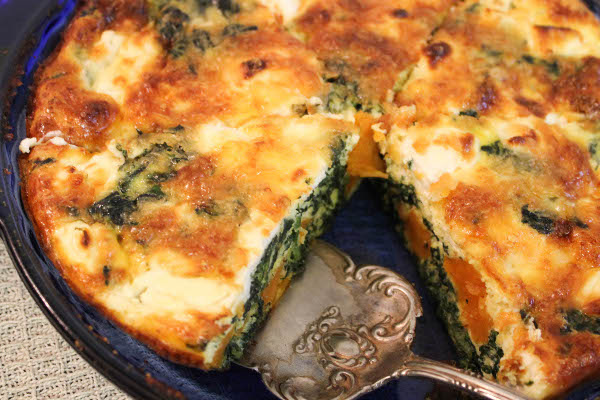 no crust spinach and sweet potato quiche