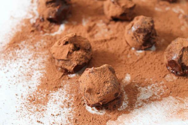 cointreau dark chocolate cherry truffles