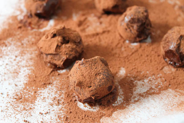 dark chocolate nutelle cherry truffles