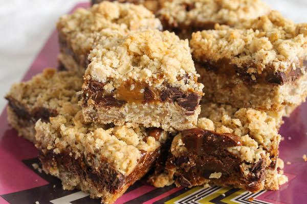 oatmeal caramel bars