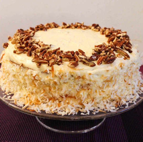 And now this: Hummingbird Cake with Rum and Cream Cheese Frosting