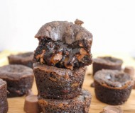 mini salted caramel brownies