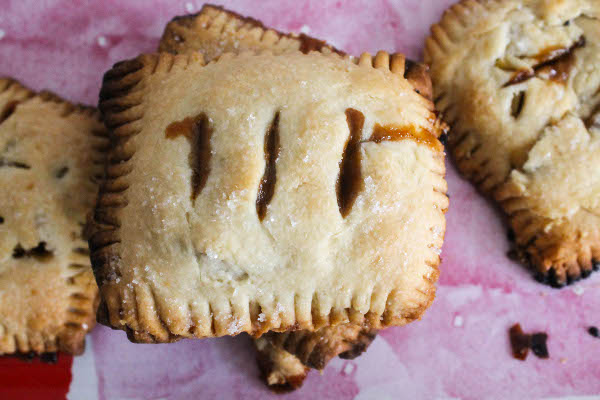 salted caramel apple individual hand pies