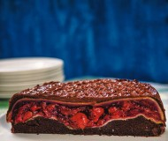 Cherry Pie Stuffed Chocolate Cake