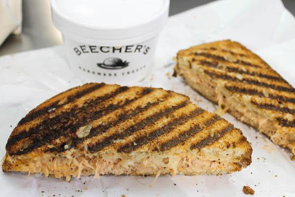 beechers seattle crab sandwich