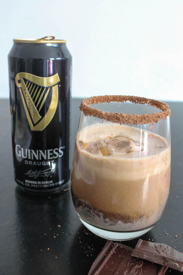 guinness beef float with salted caramel