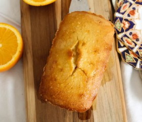 mini orange pound cake with rum glaze