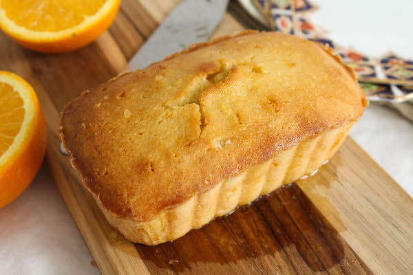 mini orange pound cake