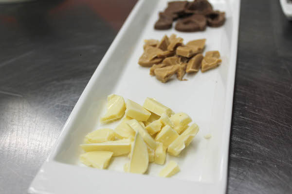 white chocolate tasting
