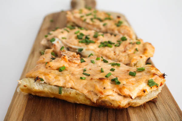 hot smoked salmon tart
