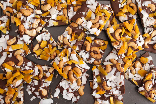 no bake gluten free chocolate bark