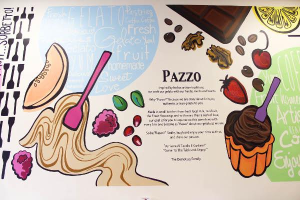 pazzo gelato side wall