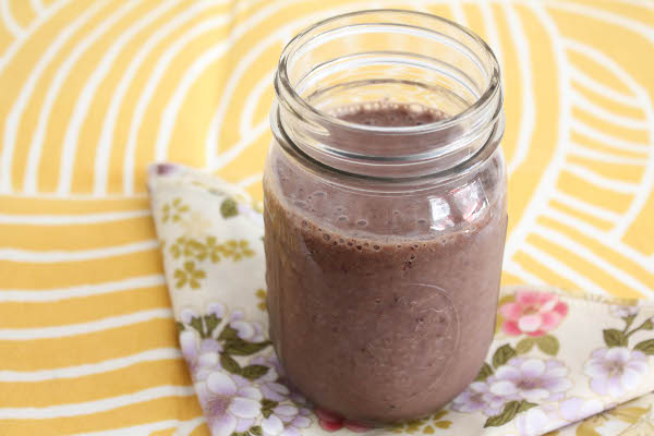 healthy chocolate cherry smoothie