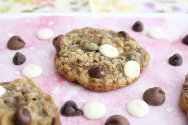 oatmeal cookie with triple chocolate chips