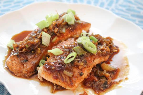 salmon with asian sauce