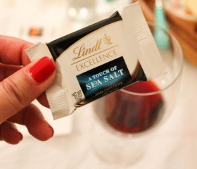 lindt sea salt with pinot noir