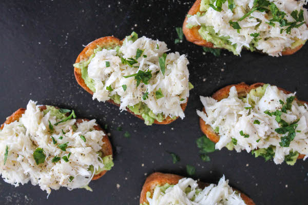 avocado crab bruschetta