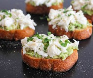 avocado crab toast