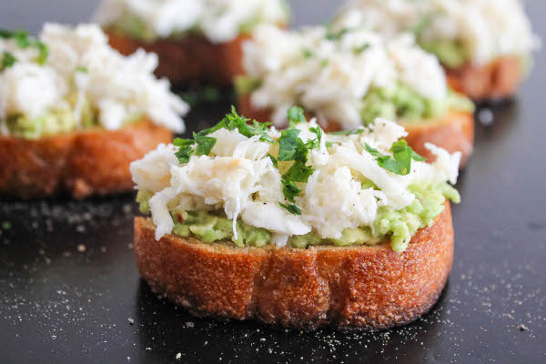 crab and avocado toast