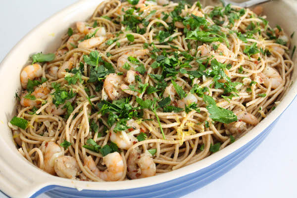 spaghetti with shrimp and garlic
