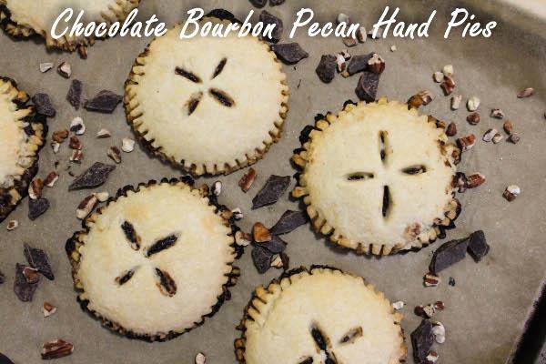 mini chocolate bourbon pecan pie