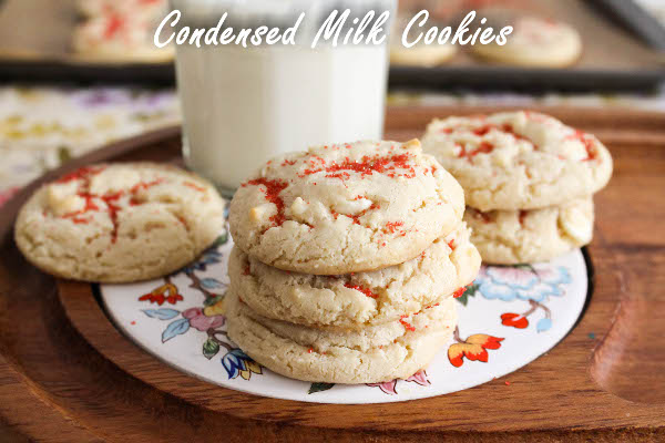 sweetened condensed milk cookies with white chocolate